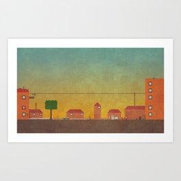 Hometown Scene Art Print
