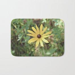 Vintage Yellow Flower Bath Mat