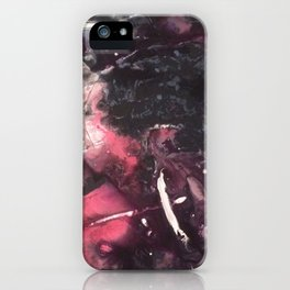 Original Abstract Painting by JodiLynpaintings. Splatter Abstract Pink Black iPhone Case