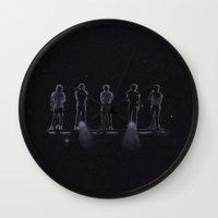 1d Wall Clocks featuring 1D by Jen Eva