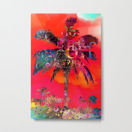 Red Palm God Metal Print