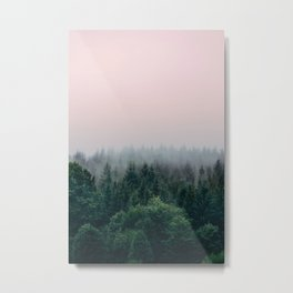 Forest in Pink Metal Print