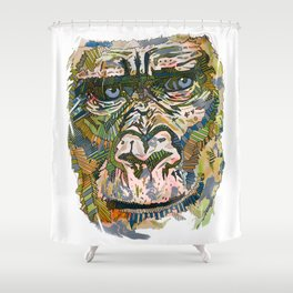 Disco Gorilla  Shower Curtain