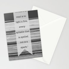 To Learn to Read is to Light a Fire Stationery Cards
