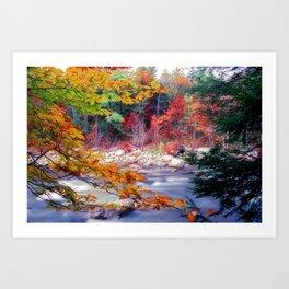 Swift River Autumn Scenic Art Print