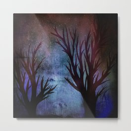 Night Trees Metal Print
