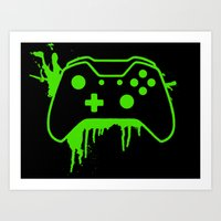 xbox Art Prints featuring Xbox One Controller by meganjamo
