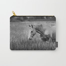 Summer fields (black an white) Carry-All Pouch