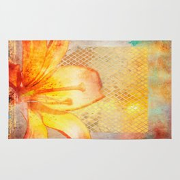 Fire Lily Rug