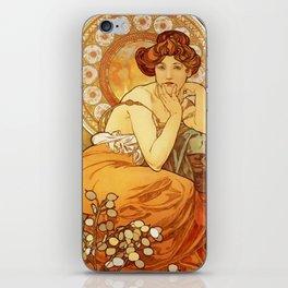 "Alphonse Mucha ""The Gem Series - Ruby, Amethyst, Emerald, Topaz"" iPhone Skin"
