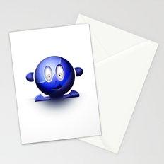 Emoticon Blue Stationery Cards