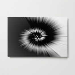 TIE DYE #1 (Black & White) Metal Print