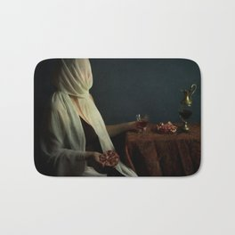 Lady justice with  pomegranate Bath Mat