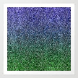 Nightfall Forest Glitter Gradient Art Print