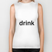 drink Biker Tanks featuring drink by linguistic94