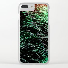 Abstract Water Spray Clear iPhone Case