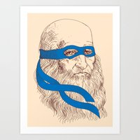 leonardo Art Prints featuring Leonardo by Fresco Umbiatore