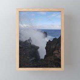 Ocean Explosion Framed Mini Art Print