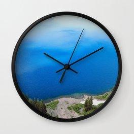 Crater Lake Cloud Reflection Wall Clock