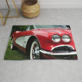 Red Corvette Rug