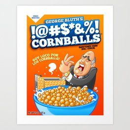 !@#$*&%! Cornballs! Art Print
