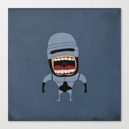 Screaming Robocop Canvas Print