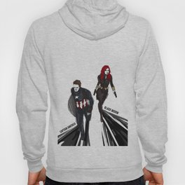 Bucky!Cap & Black Widow Hoody