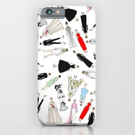 Audrey Hepburn Fashion (Scattered) iPhone Case