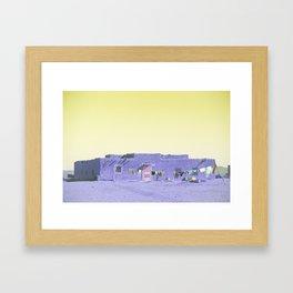 Moroccan Dar in Purple Framed Art Print