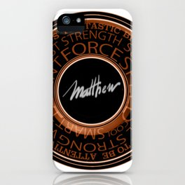 My Name is Mathew iPhone Case