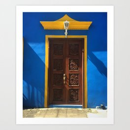 Doors of Tlacotalpan: Blue Art Print