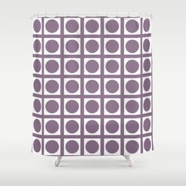Lavender Elegant Grid Dots Shower Curtain