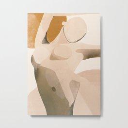 Abstract Art Nude Metal Print