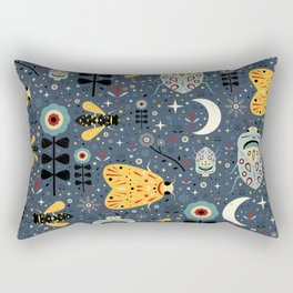 Midnight Bugs Rectangular Pillow