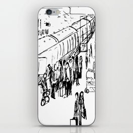 The Holiday Special Train Station Illustration iPhone Skin