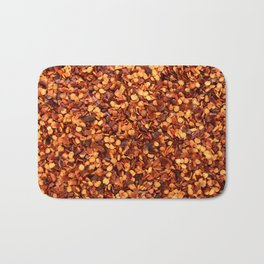 Hot and spicy crushed chilli peppers Bath Mat