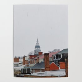 Annapolis in the snow Poster