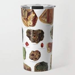 Vintage Gems And Minerals Travel Mug