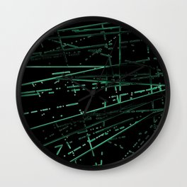 Neon Disco #8 Wall Clock