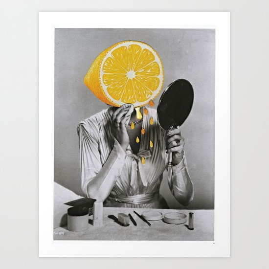 Dont Be A Lemon Art Print