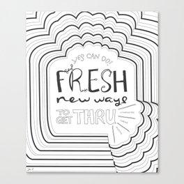 Fresh New Ways – Grey Canvas Print