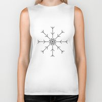 snowflake Biker Tanks featuring Snowflake by Ororon