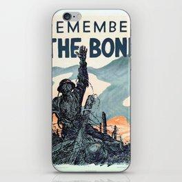 Vintage poster - Remember the Bond iPhone Skin