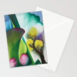 The Colors and Sights of Spring Portrait Painting by Georgia O'Keeffe Stationery Cards