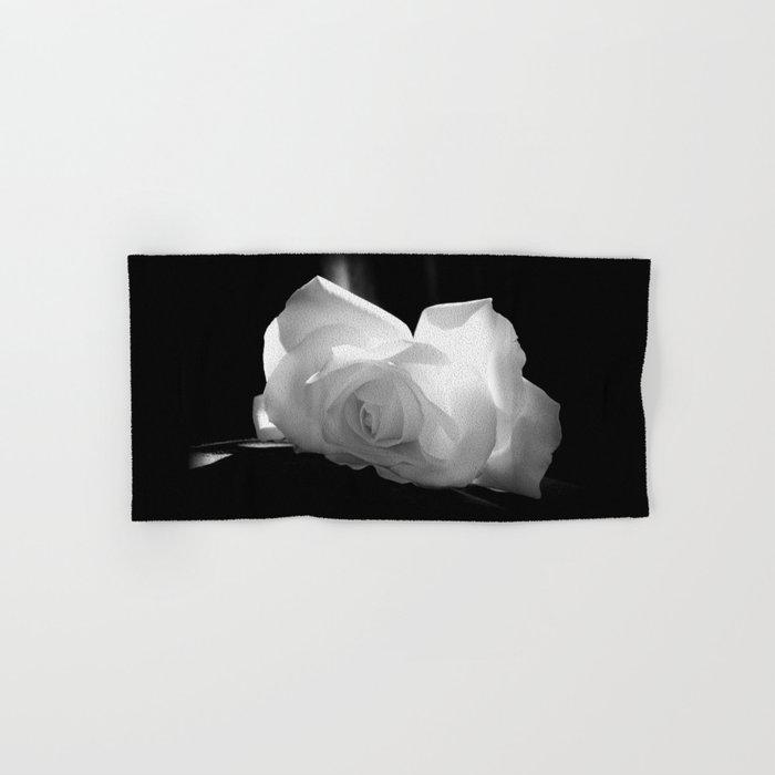 Black & White Rose Hand & Bath Towel