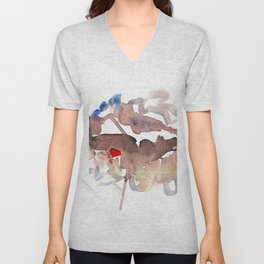 My name is watercolor Unisex V-Neck