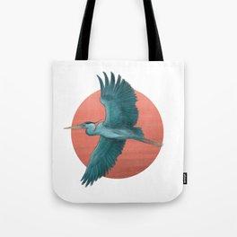 Blue Herron Tote Bag