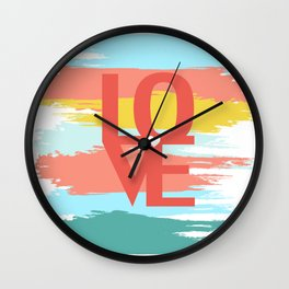 love abstract background Wall Clock