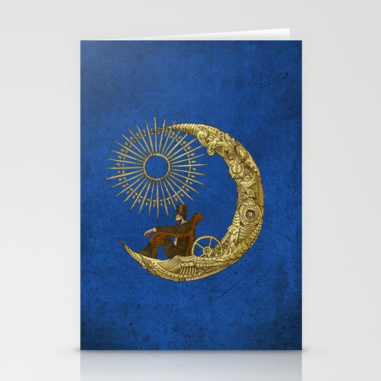 Moon Travel (Colour Option) Stationery Cards