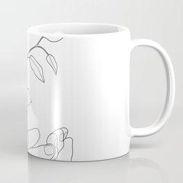 Minimal Hand Holding the Branch II Coffee Mug